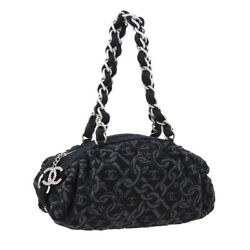CHANEL Chain Design CC Logos Chain Hand Bag 10326930 Black Tweed R11694 $1,311.00