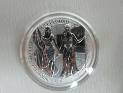 2019 Germania Mint 5 Mark Allegories Columbia And Germania 1oz Silver Bu With Coa
