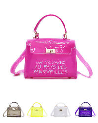 Candy Girls Casual Jelly Transparency Handbags Summer Beach Totes Shoulder Bags $12.88