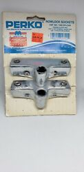 Perko 1186-dp-chr Rowlock Sockets Pair Comes With 6 Stainless Screws