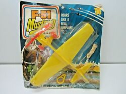 Vintage Rare F-51 Mustang Usaf Plastic Toy And Novelty Corp. Toy Airplane