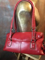 Relic Red Design Embossed Leather Cross Body Purse $17.00
