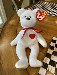Ty Beanie Baby Valentino Brown Nose - Excellent Condition - Pvc - Errors