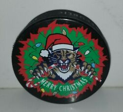 Nhl Florida Panthers Merry Christmas Hockey Club Official Puck Ltd Ed Of 1000