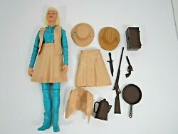 Vintage Marx Best Of The West Jane West Action Figure And Accessories