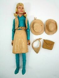 Vintage Marx Best Of The West Josie West Action Figure And Accessories