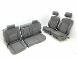 2014-2018 Gmc Sierra Complete Set Of Black Leather With Cloth Center Seats