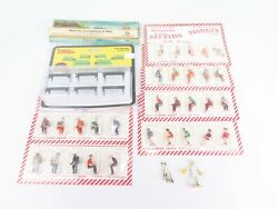 O Scale Lot - 40 Assorted Sitting People, Farmer Worker Figures And Benches