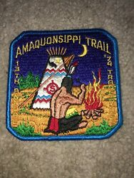 Boy Scout Bsa Amaquonsippi Illinois 13th Annual Trade-o-ree Tor 1974 Trail Patch