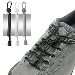 No Tie Elastic Shoelaces Lock Shoes Lazy Laces With Spring Clasp Trainers Adult $4.59