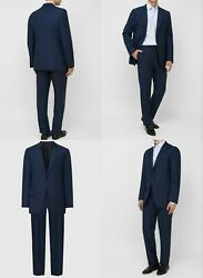 Authentic New Men's Tom Ford Sharkskin Navy Wool O'connor Suit,it54r/xl