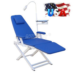 Dental Portable Chair Mobile Folding Chair With Led Light + Instrument Tray