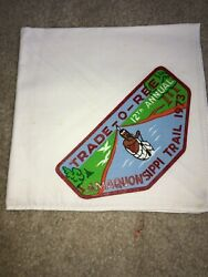 Boy Scout Amaquonsippi Illinois 12th Annual Tradeoree Tor 1973 Trail Neckerchief