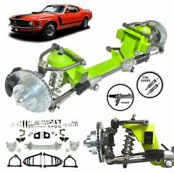 64-70 Ford Mustang Mii 2 Ifs 450lbs Coilover Shock Stock Height 5x4.5 Power Rack