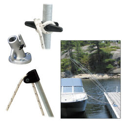 Dock Edge 3400-f Premium Mooring Whips 2pc 12ft 5000 Lbs Up To 23ft