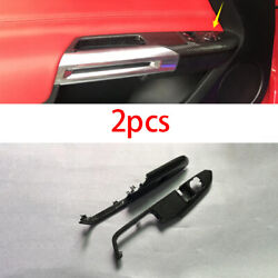For Ford Mustang 2015-20 Replace Window Lock Lift Panel Trim Frame Carbon Fiber