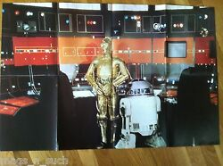 1977 C3po R2d2 Star Wars Official Poster Monthly Magazine Rare Issue Number 3