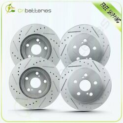 For 2012-15 Toyota Prius Plug-in 4 Front + Rear Drill Slot Brake Rotors Disc
