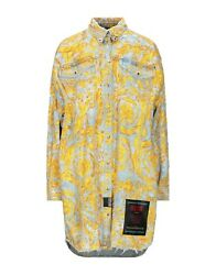 NWT Versace Jeans Couture - Baroque denim long shirt SIZE  IT38