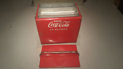 Vintage Drink Coca Cola Metal Picnic Cooler, Sandwich Tray, And 1979 Serving Tray