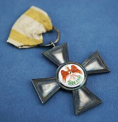 Ww1 German Imperial Order Of The Red Eagle 4th Class Cross Badge Pin Medal Award