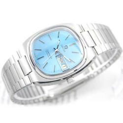 Vintage Omega Seamaster T Automatic Day G Sky Blue Custom Dial 1020 Mens Watch