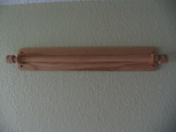Oak Tapestry or Quilt Hanger. 32quot;. Nordic Style. Oil Finish. Rounded Arms Base