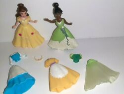 Disney Princess And The Frog Tiana And Beauty And The Beast Belle Dolls Polly Pocket
