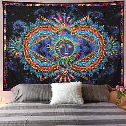 Bohemian Tapestry Sun Moon Tapestry Psychedelic Wall Hanging Tapestries Decor