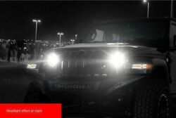 """For Wrangler Jl 2018-2020 All Led Headlight Projector Drl 9""""white Color 2x"""
