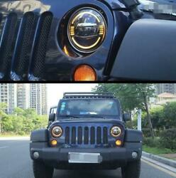 """For Wrangler Jl 2018-2020 All Led Headlight Projector Turn Signal Drl 9""""2x"""