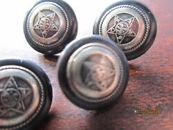 Estate Lot 4 Stars Sheriff Marshall Antique Vintage Collectible 1/2 Buttons