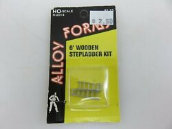 Alloy Form 6and039 Wooden Step Ladder Ho Scale Kit H-2014 New Old Stock