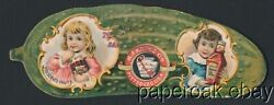 Ca1900 Heinz Die-cut Pickle Trade Card For Preserved Fruits And Chili Sauce