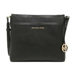 NWT Michael Kors Bedford NS Crossbody File Messenger Leather Black 35H9GBFC1L $96.00