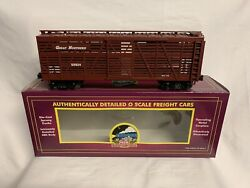 ✅mth Premier Great Northern 40' Stock Cattle Car 20-90006 O Scale Train Box