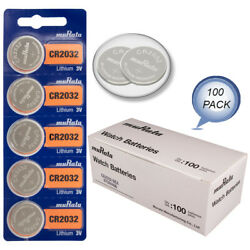 Murata CR2032 Battery 3V Lithium Coin Cell - Replaces Sony CR2032 (100 $28.40