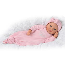 Bradford Exchange Ping Lau Mommy's Girl Baby Doll With Magnetic Pacifier