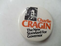 Maine Governor Pin Back Charlie Cragin Campaign Button Local Political Election