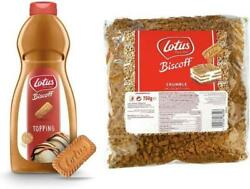 Lotus Biscoff Topping Sauce Crumbs Biscuits 1kg Bottle And 750g Crumbs