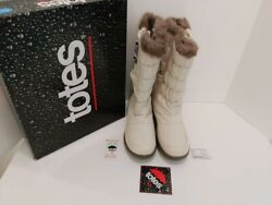 TOTES WATERPROOF CREAM COLOR THERMOLITE BOOTS SIZE 9M WORN ONCE $40.00