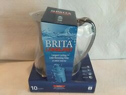 NEW Brita Monterey Water Filter Pitcher w 1 Longlast Filter Black Coffee 10 Cup