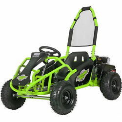 Mud Monster Kids Gas Powered 98cc Go Kart Full Suspension Green
