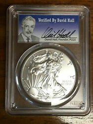 2016 Pcgs Ms70 Silver Eagle 30th Anniversary - Signed By David Hall Rare