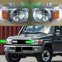 2x For Toyota Land Cruiser Lc70 Lc76 Lc79 Lc71 2007-15 Car Front Headlight Lhandrh