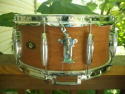 Vintage Slingerland Parts /hand Crafted 6.5x14 Snare Shell/ Solid Re-rings