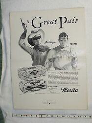 1930and039s - 1940and039s Merita Bread Lone Ranger Advertising Radio Proof Posters