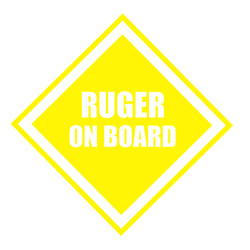 Ruger On Board Decal For Car Truck
