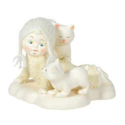 New 2020 Enesco Itty Bitty Kitty Crossing Snowbabies Classic Collection Nis