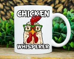 Chicken Whisperer Mug Funny Chicken Coffee Cup Cool Rooster Lover Mug